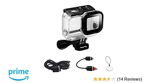 Suptig Case Replacement Waterproof Case Protective Housing for GoPro Hero 6 Gopro Hero 5 Sport Camera for Underwater Charge Use Water Resistant up to 164ft (50m)