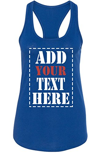 Custom Tank Tops for Women - Design Your Own Racerback Tank Top - Customized & Personalized Tanktops with Text Royal Blue