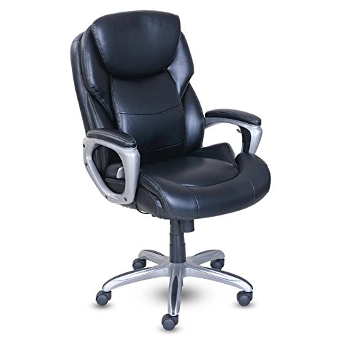 Serta My Fit Executive Office Chair with Active Lumbar Support, Black