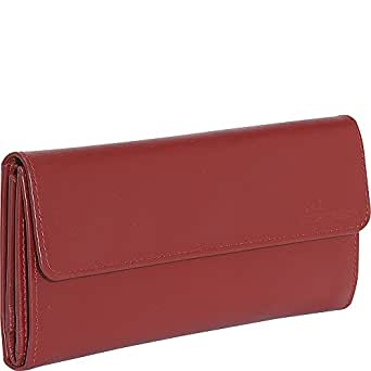 Derek Alexander Ladies 3 Part Checkbook Wallet (Red)