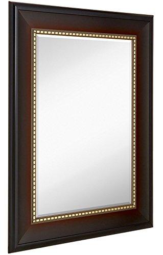 Framed Beveled Glass (Wide Transitional Framed Mirror | 1