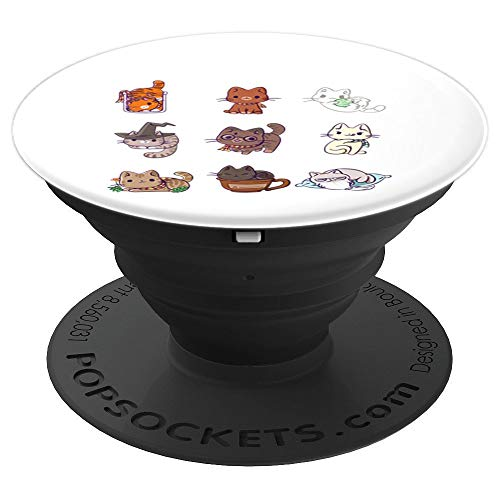 Harry Pawter Cute Kitten Potter Cats - PopSockets Grip and Stand for Phones and Tablets ()