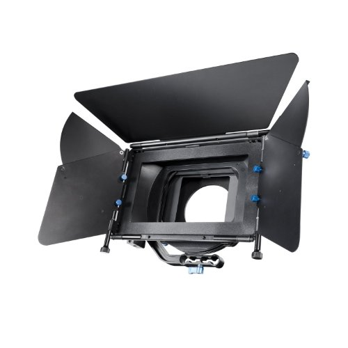 SunSmart 15mm rod DSLR Support System Matte Box Lens Hood with 2 filter trays for Video and DSLR Cameras