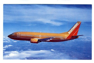 southwest-airlines-boeing-737-300-postcard