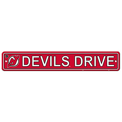 NHL New Jersey Devils Street Sign, One Size, Multicolor
