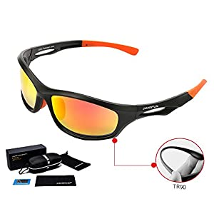 Running Sunglasses : Lightweight Sports Sunglasses for Men and Women ¨C Best Sunglasses for Running, Cycling, Golf, Driving, Fishing & All Outdoor Activities, With HD Polarized Lens