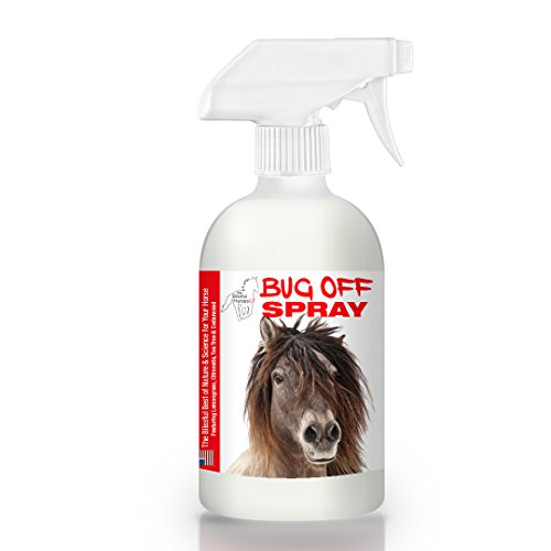 The Blissful Horses Bug Off Spray All Natural Bug Repellent for Your Horse, 16-Ounce