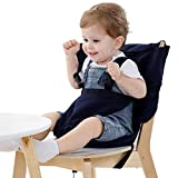 Vine Easy Seat Portable Travel High Chair Toddler High Chair Seat Cover Adjustable, Safety, Washable Cloth Convenient Cloth Travel High Chair Fits in Your Handbag (Dark Blue)