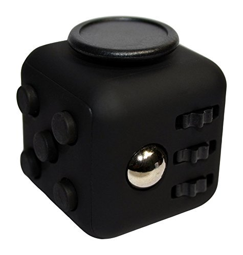 Price comparison product image NOKEA Fidget Cube Toy Anxiety Attention Stress Relief for Children and Adults Anxiety Attention Toy (Black Black)