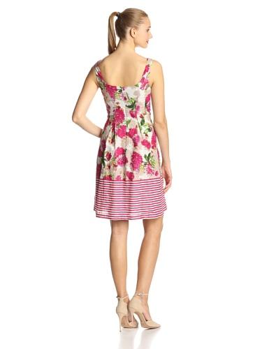 Nine West Women's Sleeveless Dress with Pleats