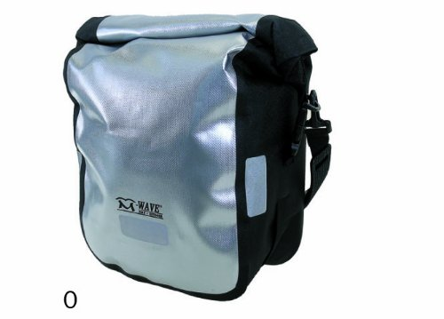 M-Wave Vorderrad-Packtasche, silber/ schwarz, 2 x 10 Liter