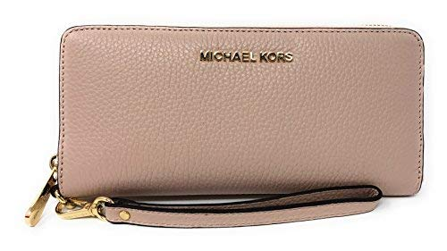 - Michael Kors Jet Set Travel Continental Leather Wallet/Wristlet - Ballet