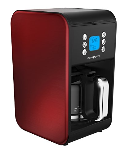Morphy Richards 162009 Pour Over Filter Coffee Maker, 1.8 Litre, 900 W, Red,...