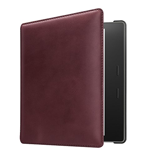 CaseBot Leather Case for Kindle Oasis (9th Gen, 2017 Release) - Burgundy