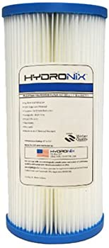 """Hydronix SPC-45-1005 Polyester Pleated Filter 4.5"""" OD X 9 3/4"""" Length, 5 Micron"""