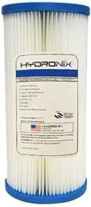 Hydronix HYDRONIX-SPC-45-1010 de 10 pulg x 4,5 pulg plisado sedimentos de agua filtro de 10 micras