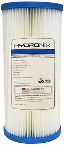 Hydronix SPC-45-1005 Polyester Pleated Filter 4.5'' OD X 9 3/4'' Length, 5 Micron by Hydronix