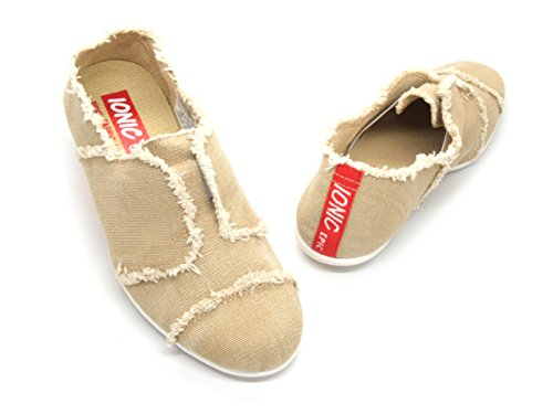 IONIC EPIC simply FABRIC footwear Women's Sando, Tan, Canvas, 7 B(M) US (Tan Canvas Footwear)