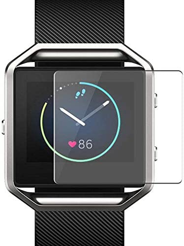 Puccy 4 Pack Screen Protector Film, suitable with Fitbit Blaze TPU Guard ( Not Tempered Glass Protectors )