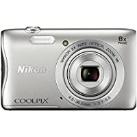 Nikon COOLPIX S3700 Digital Camera with 8x Optical Zoom and Built-In Wi-Fi (Silver) Overview Review Image