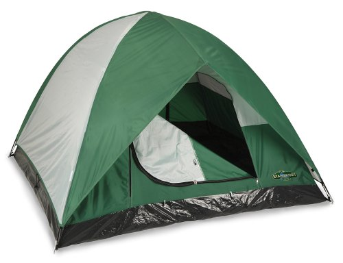 Stansport Black Granite Series McKinley 2 Pole Dome Tent (7-Feet X 7-Feet X 54-Inch), Outdoor Stuffs