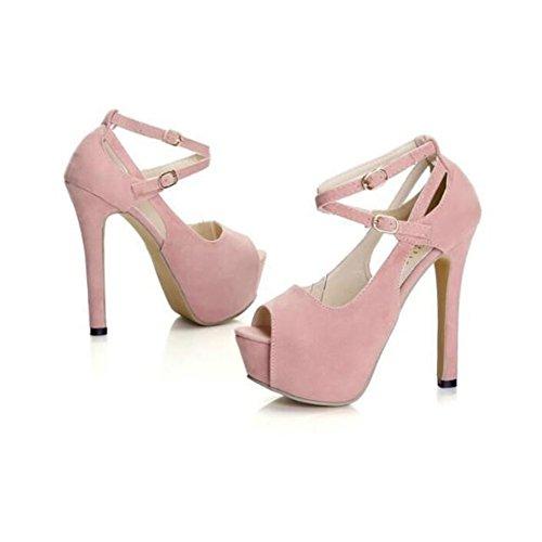 女性の靴春夏コンフォート?ノベルティサンダルハイヒールトレンディなレディースファッションサンダルピープトウバックル