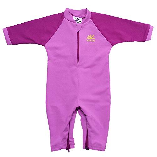 Fiji Sun Protective UPF 50+ Baby Swimsuit by Nozone in Bahama/Fuschia, 12-18 months
