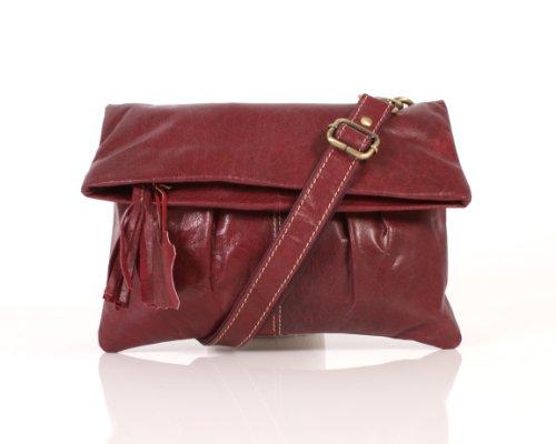 Italian Leather, Borsa a spalla donna Rosso rosso