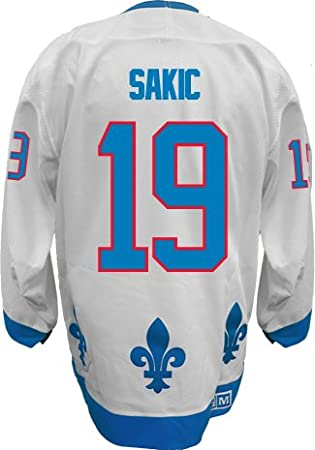 quality design 699b8 aad7d Quebec Nordiques Joe SAKIC #19 Official White CCM Vintage NHL Hockey Jersey  (SEWN TACKLE TWILL NAME / NUMBERS)