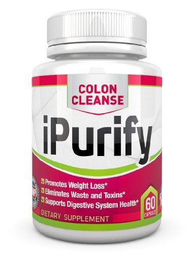iPurify Colon Cleanse Detox et supplément de perte de poids alimentaire naturel, * 60 comte