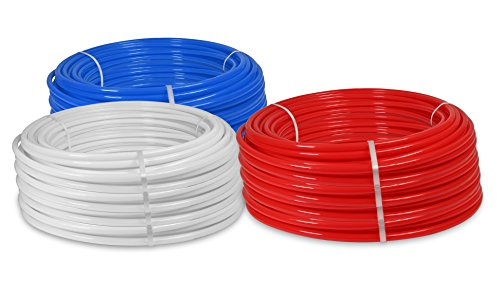 White Tubing Pex (Pexflow PFW-W1100 PEX Potable Water Tubing Non-Barrier Pipe, 1 Inch x 100 Feet, White)