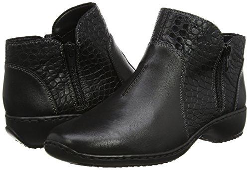 Pour L3869 Noires Femmes noir Rieker Bottes qFRz44