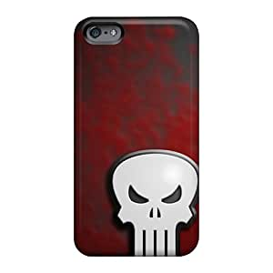 Bumper Hard Cell-phone Cases For Apple Iphone 6 With Allow Personal Design High Resolution Punisher Image JoannaVennettilli