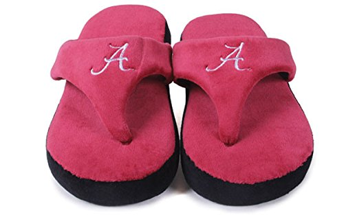 Alabama Flop and Womens Feet Comfy Crimson Mens Happy College OFFICIALLY Tide NCAA LICENSED HRn1vEg