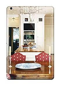 New QBocMqQ3202krbSq White Kitchen With Red Polka Dot Chairs Dual Stove Dual Washers Amp Unique Chandelier Skin Case Cover Shatterproof Case For Ipad Mini/mini 2
