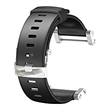 Suunto Core Wrist-Top Computer Watch Replacement Strap (Black, Flat)