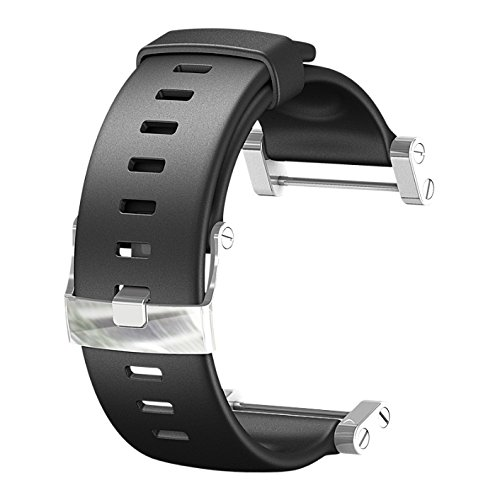 Watch Ships - SUUNTO Core Wrist-Top Computer Watch Replacement Strap (Flat Black)