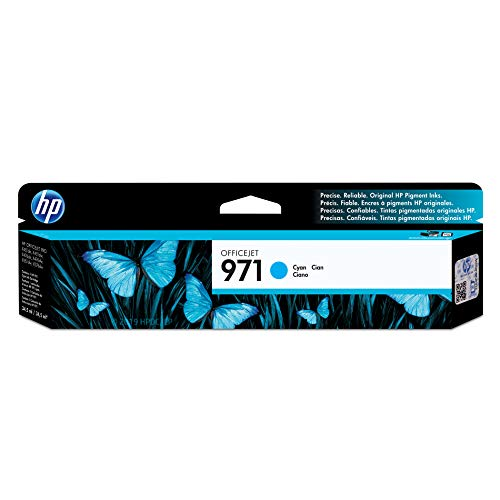 2500 Printer Color Series (HP 971 Cyan Ink Cartridge (CN622AM) for HP Officejet Pro X451 X476 X551 X576)