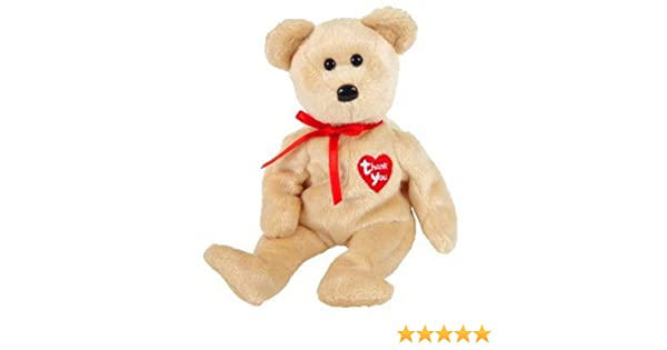 0b8e8af1316 Amazon.com  TY Beanie Baby - THANK YOU BEAR 2003 (Dealer Exclusive ...