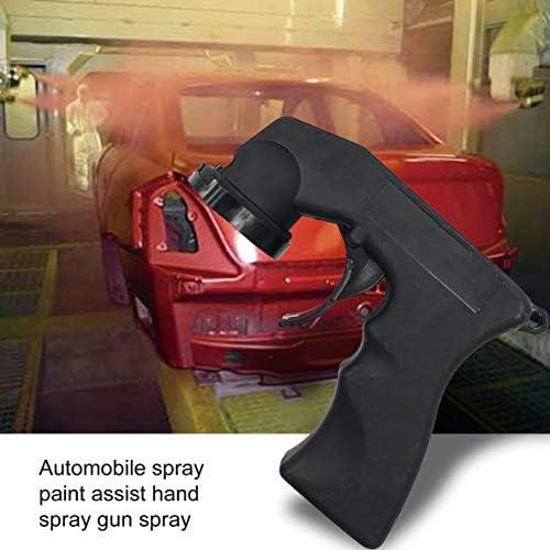 Nbvmngjhjlkjluk Spray Adapter Paint Care Aerosol Spray Can Gun Grip With Full Handle Trigger Lock Collar Car Maintenance For Painting Black Küche Haushalt