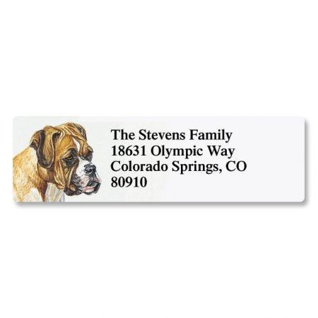 Boxer Pet Portrait Small Return Address Label - Set of 240 2