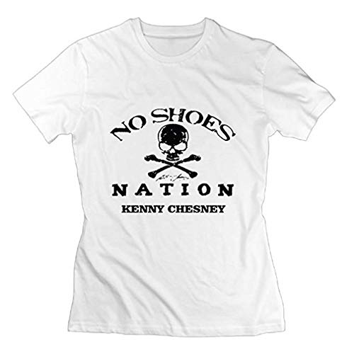 Adult Kenny Chesney No Shoes Nation Summer Humor Party White Shirt for Womens Size S