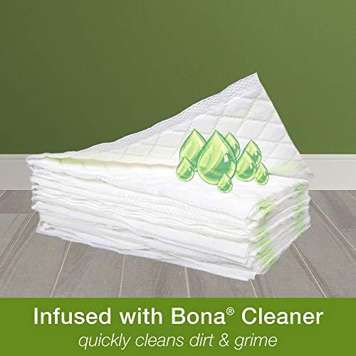 BONA KEMI Stone, Tile and Laminate Floors Disposable Wet Cleaning Pads, White