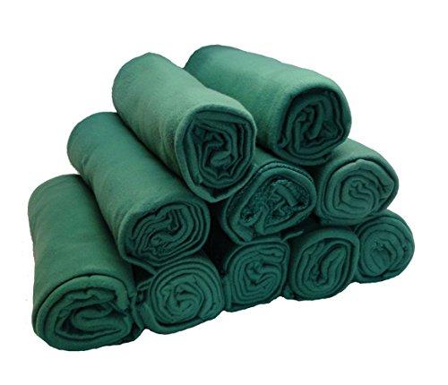 50 x 60 Inch Fleece Throw Blanket Wholesale Case Pack 10 (Hunter Green)
