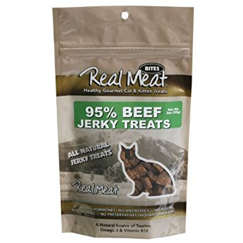 The Real Meat Company All-Natural Beef Jerky Cat Treats, 3 Ounce