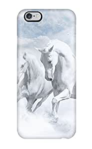 New Snap-on ZippyDoritEduard Skin Case Cover Compatible With Iphone 6 Plus- White Horses