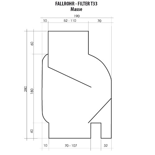 Interessant Fallrohrfilter Regensammler T 33 braun - Der REGENWASSER-FILTER  WW32