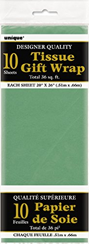 Green Tissue Paper Sheets 10ct