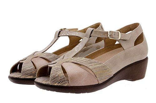 Piesanto Femme Visón Semelle Amples Amovible Sandales En Cuir Confortables 1160 Confort Chaussure À rHCwq7xr