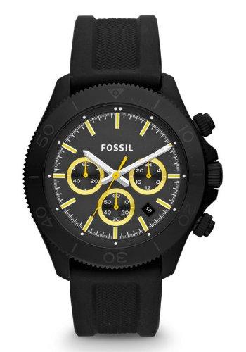 Fossil Retro Traveler Chronograph Silicone Watch - Black Ch2870